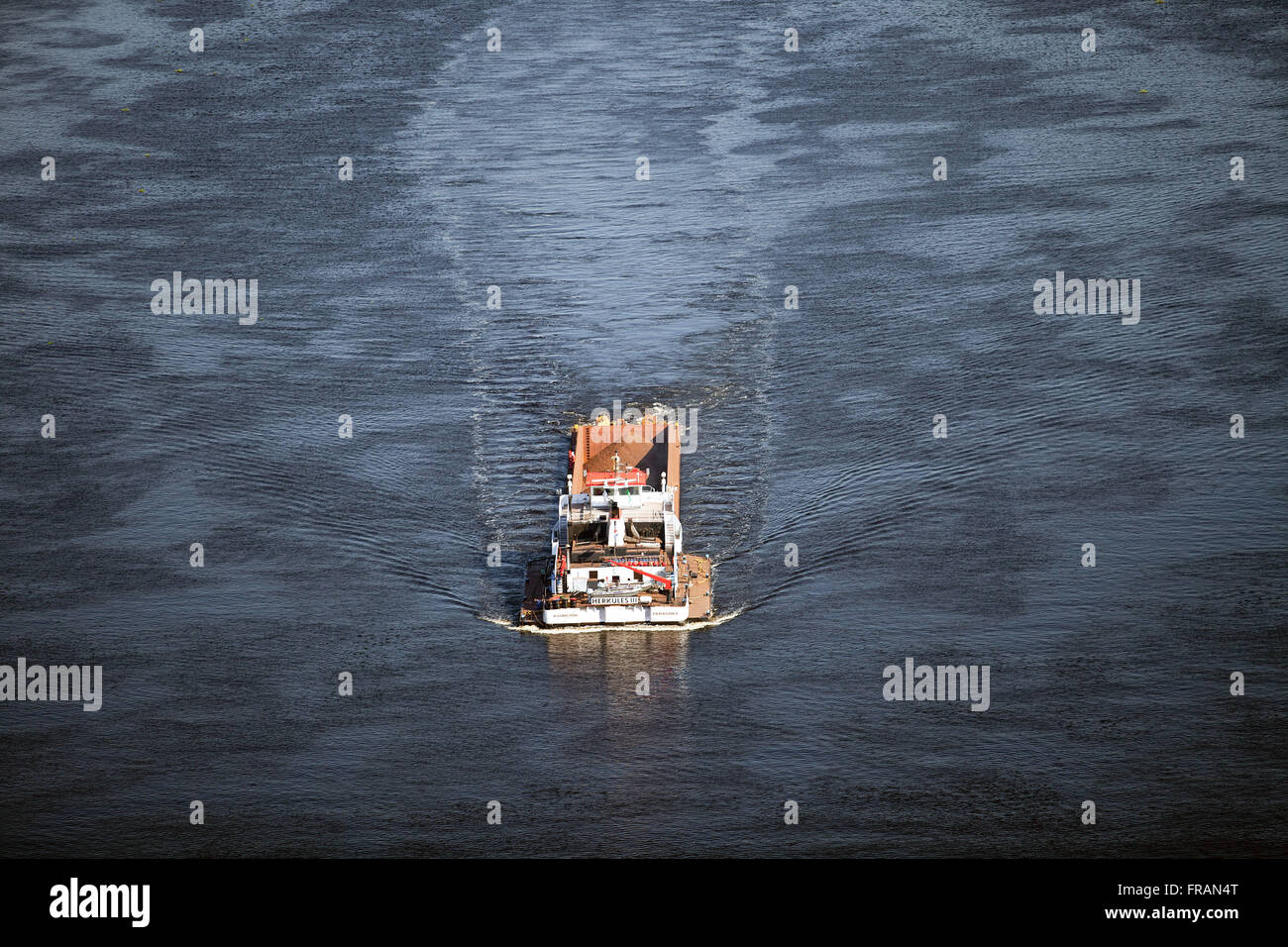 Transportation of cargo in Rio Paraguay - Stock Image