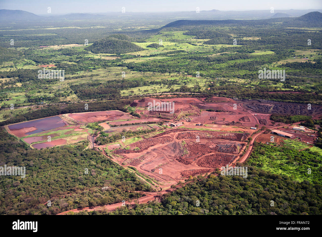 Mining of iron ore and manganese in the Massif Annatto - Stock Image