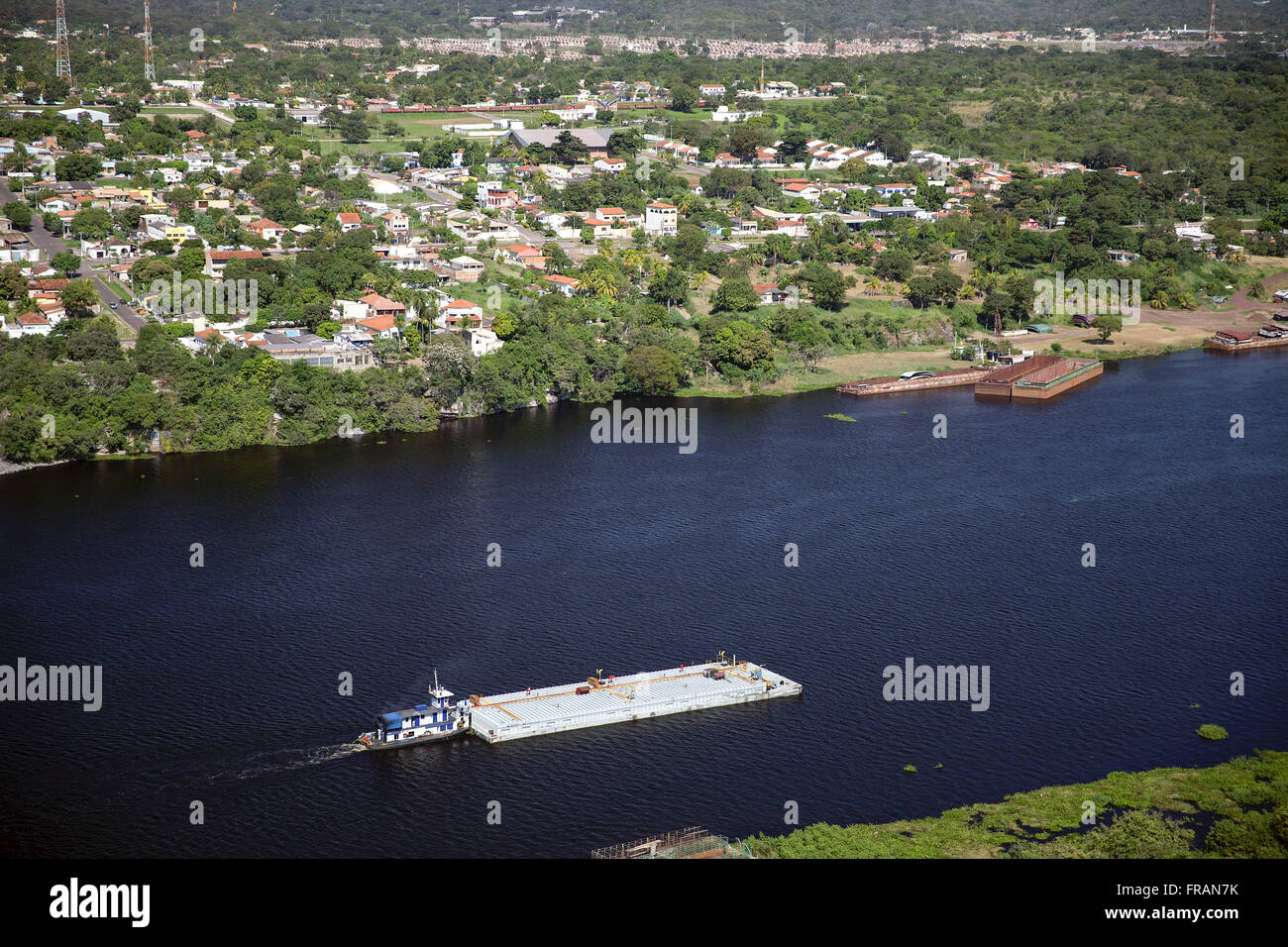 Vessel to transport cargo in Rio Paraguay - Stock Image
