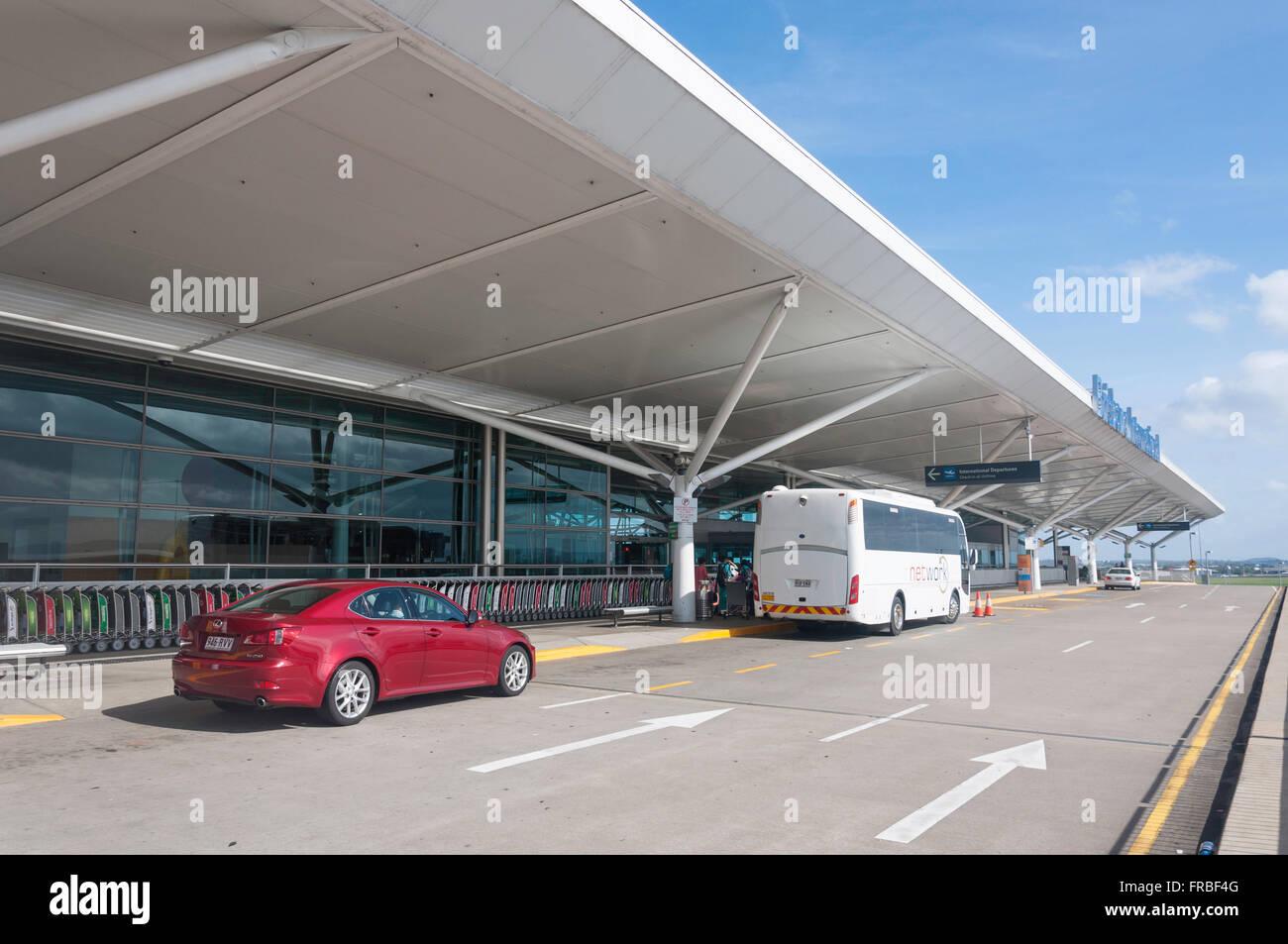 Departure terminal, Brisbane International Airport, Brisbane Airport Suburb, Brisbane, Queensland, Australia - Stock Image