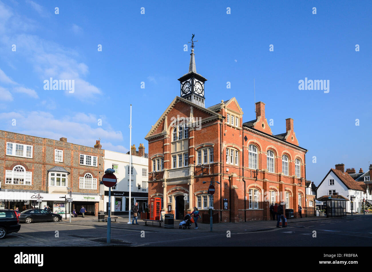 The Town Hall, home of Town Council, High Street, Thame, Oxfordshire, England, UK.Stock Photo