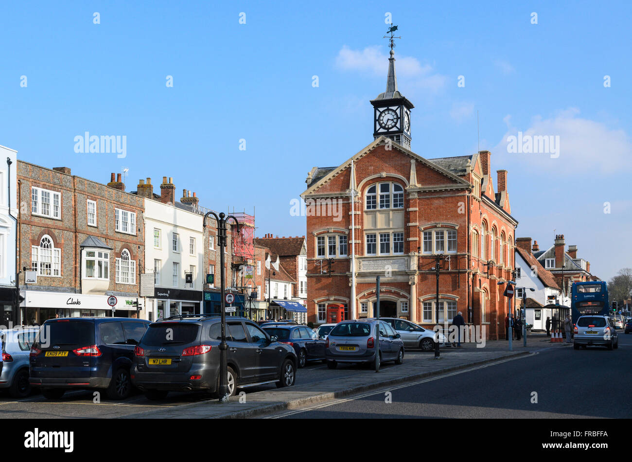 The Town Hall, home of Town Council, High Street, Thame, Oxfordshire, England, UK. Stock Photo