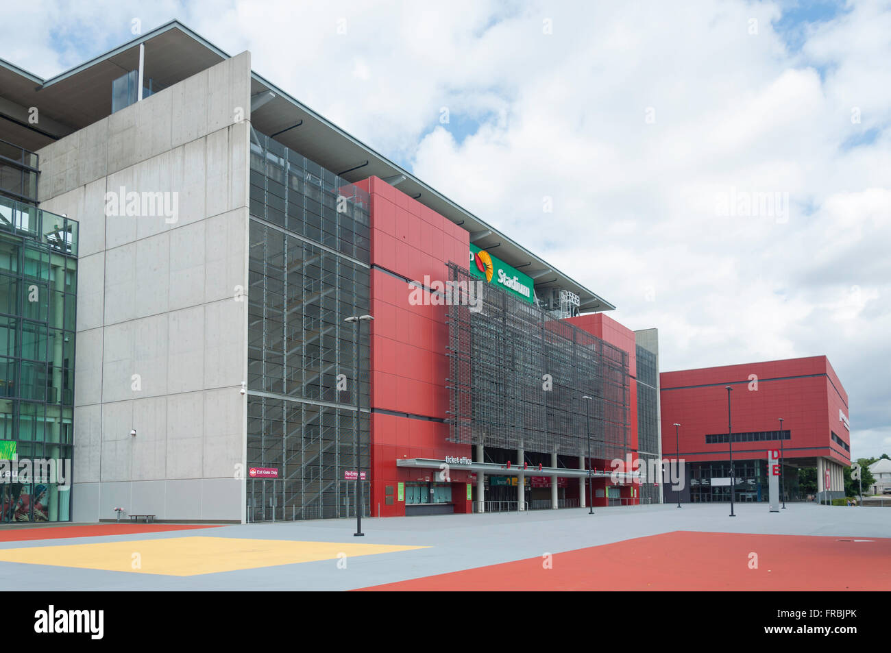 Main entrance to Suncorp Stadium, Caxton Street, Paddington, Brisbane, Queensland, Australia - Stock Image