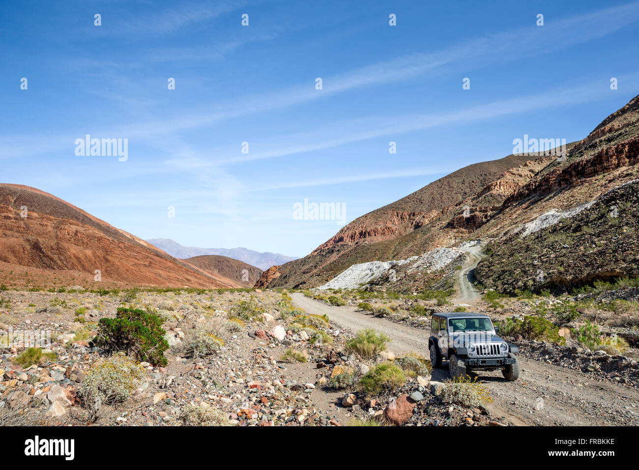 The backcountry road along Warm Springs Canyon in Death