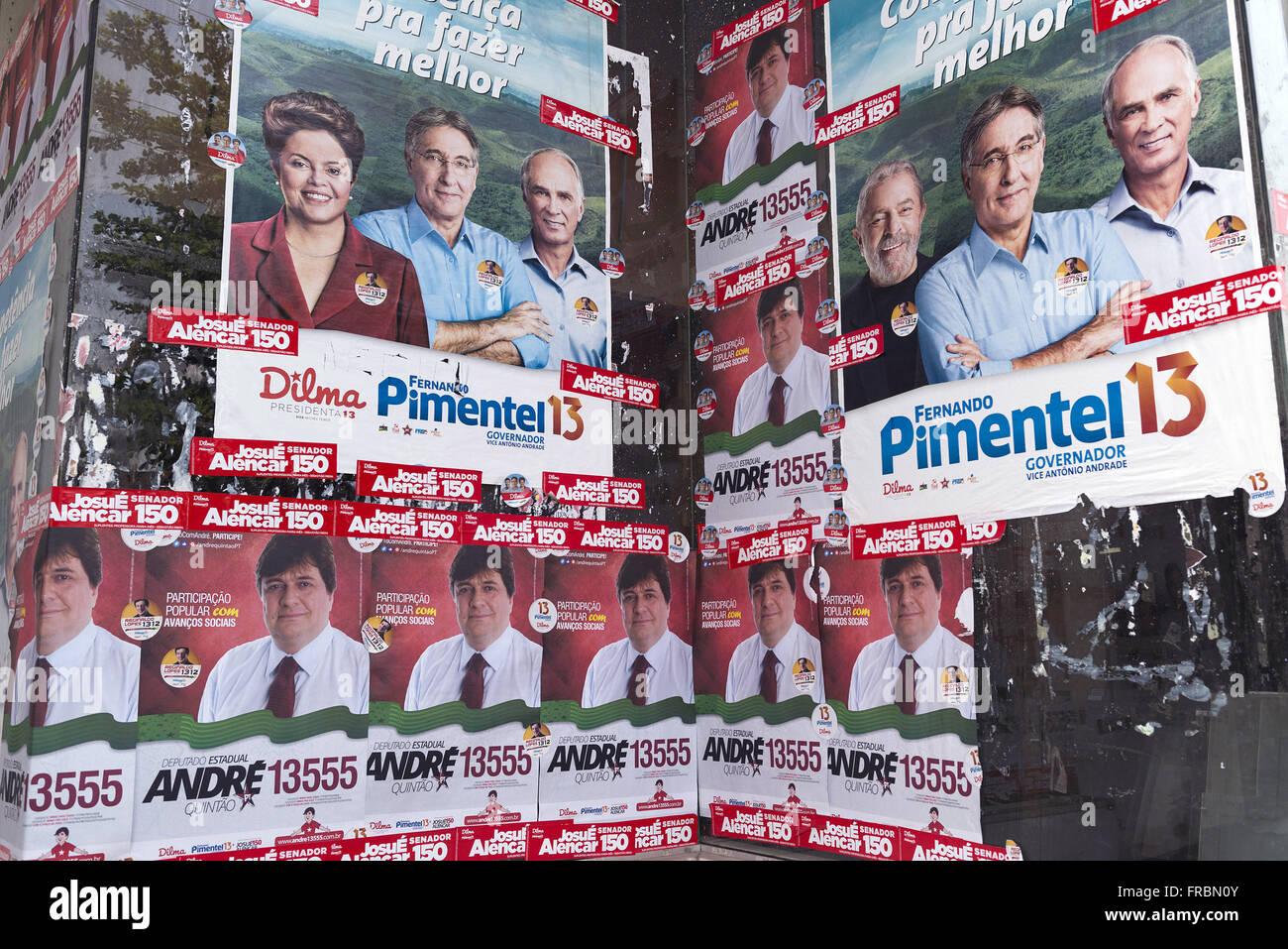 Political propaganda posters - Stock Image
