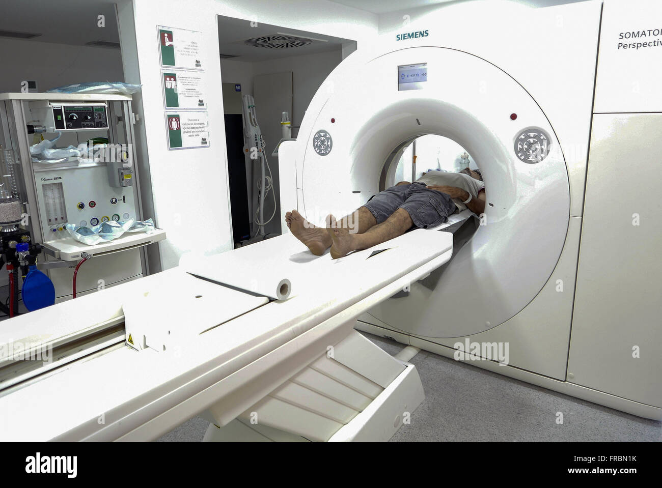 CT examination room in private clinic - Stock Image