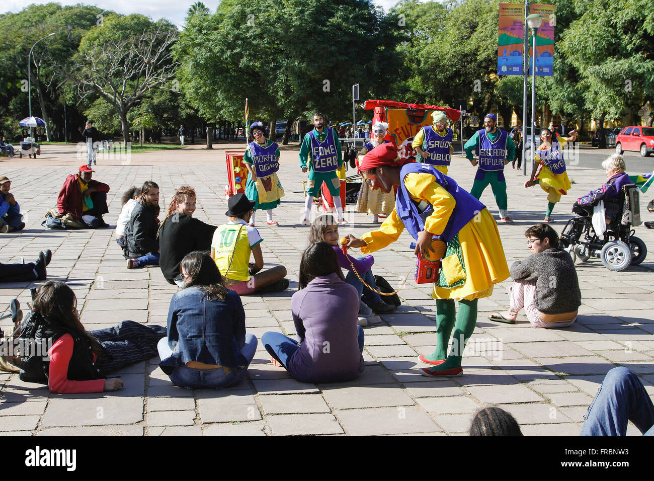 Peaceful protest at Farringdon Park also known as Park Redemption - Stock Image