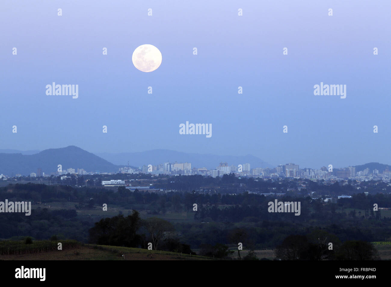 Phenomenon of Superlua during the full moon - Stock Image