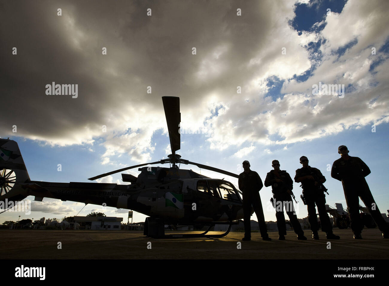 Military of GRAER - Grouping Aeropolicial Aereo and Rescue Military Police of Parana Stock Photo