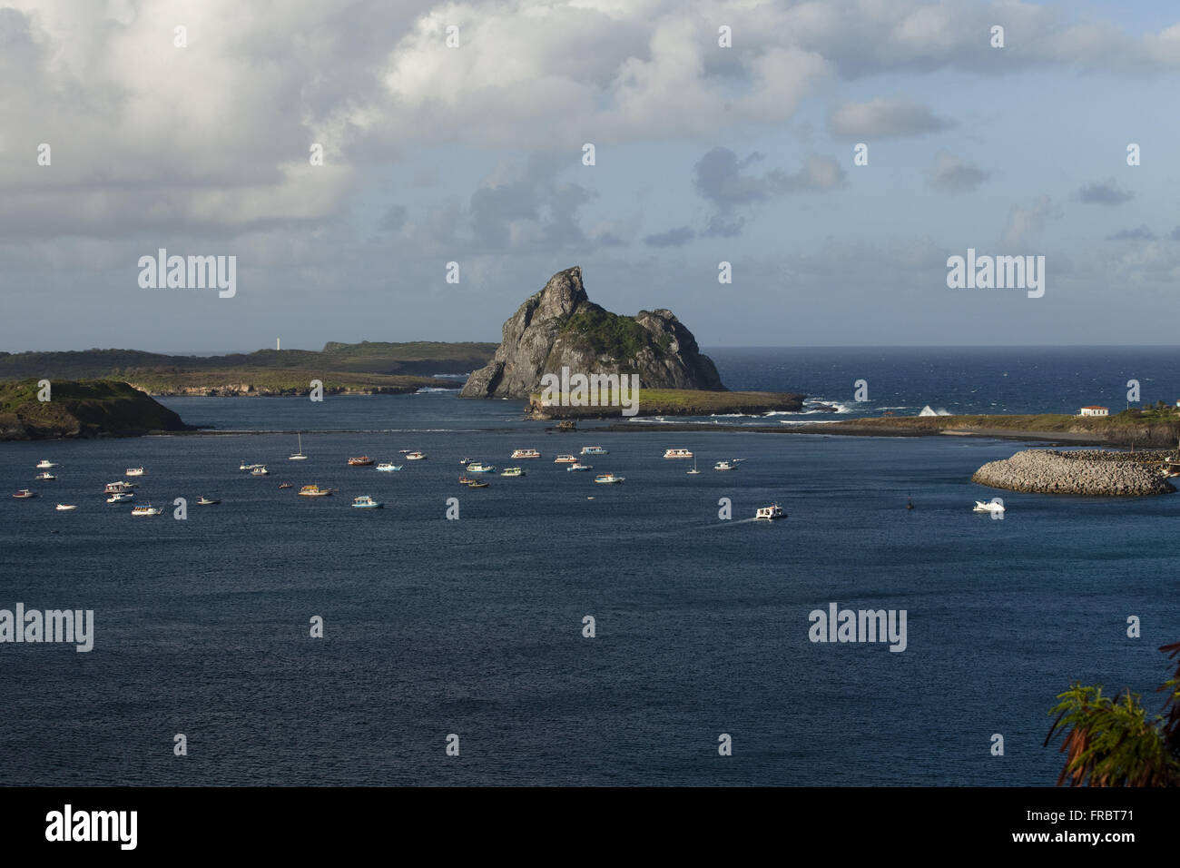 Bay of Porto Santo Antonio in late afternoon - Stock Image