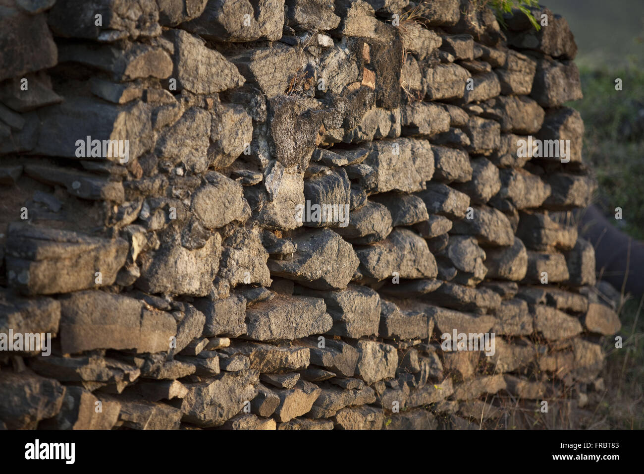 Detail of the Fort of Our Lady of Remedios - construction 1737 - Stock Image
