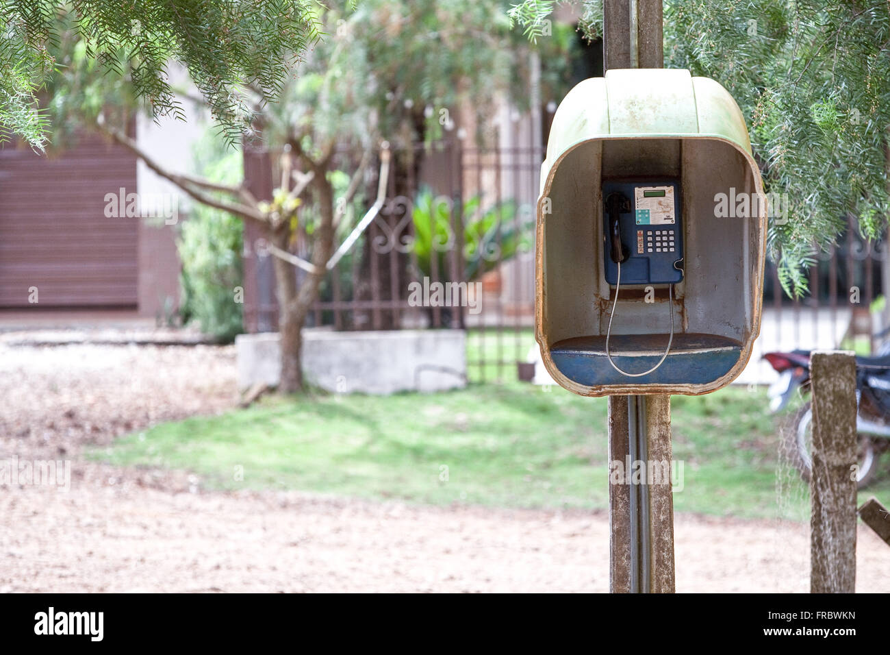 Payphone in the countryside - Stock Image