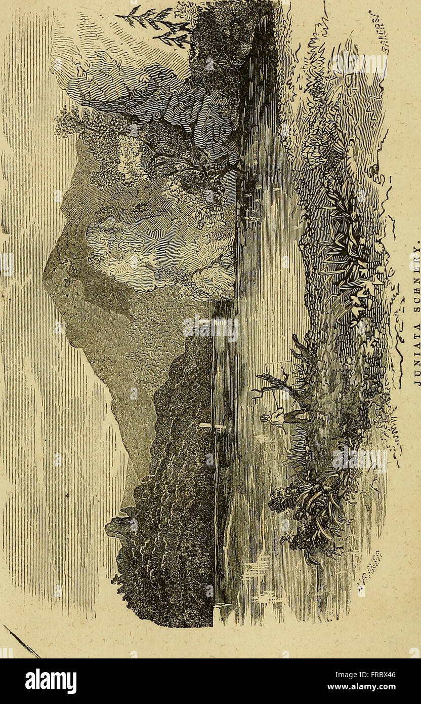 The pictorial sketch-book of Pennsylvania - or, its scenery, internal improvements, resources, and agriculture, popularly described (1853) Stock Photo