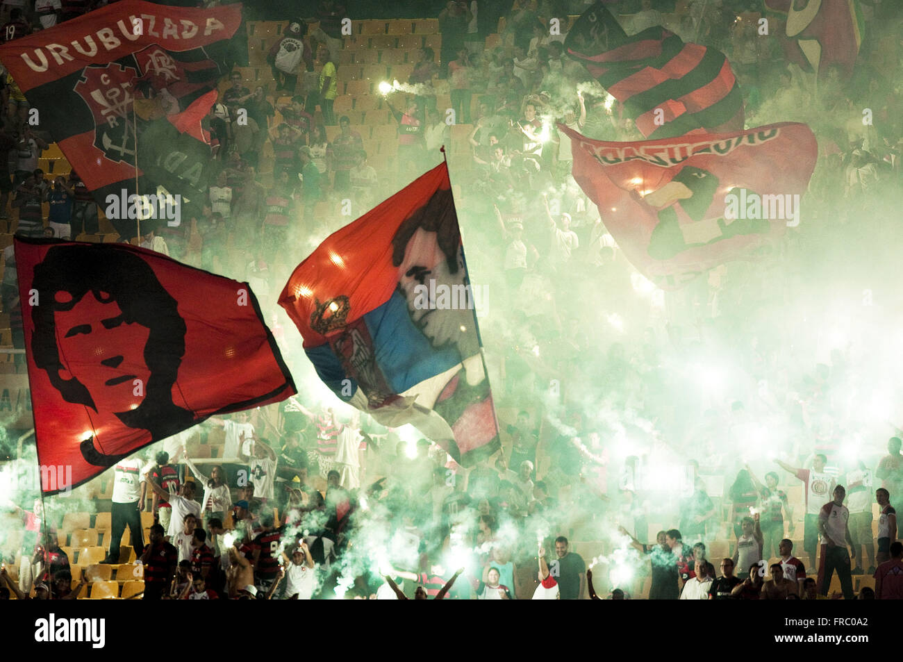Organized fans of Flamengo - Stock Image