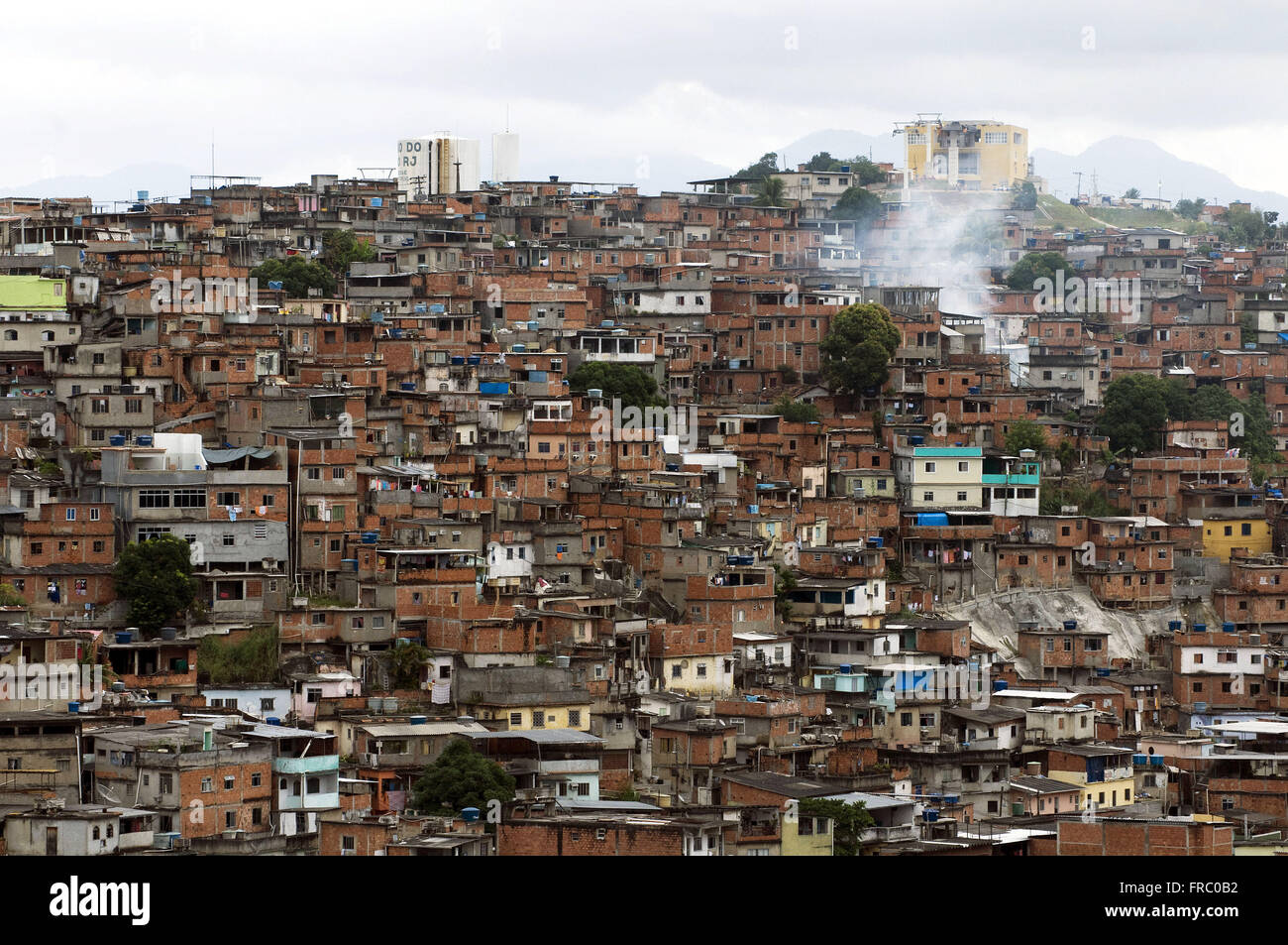 Morro do Alemao during the Growth Acceleration Program - PAC - - Stock Image