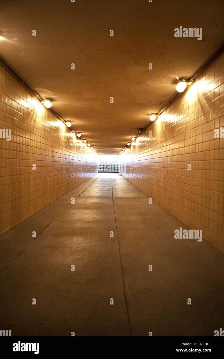 Corridor to the football field Journalist Estadio Mario Filho - Maracana - Stock Image