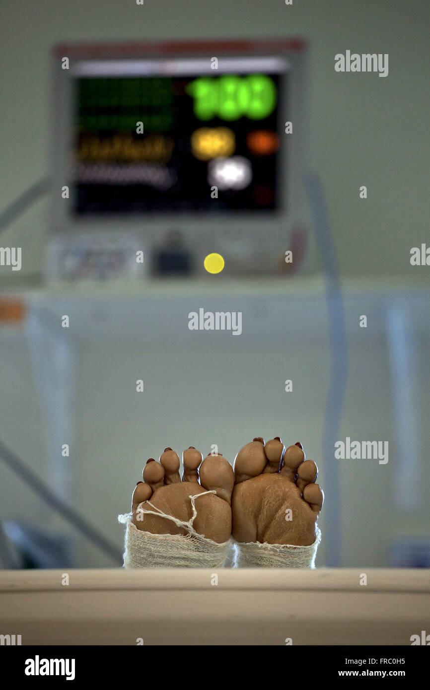 Intensive Care Unit of the Hospital da Lagoa city of Rio de Janeiro - Stock Image