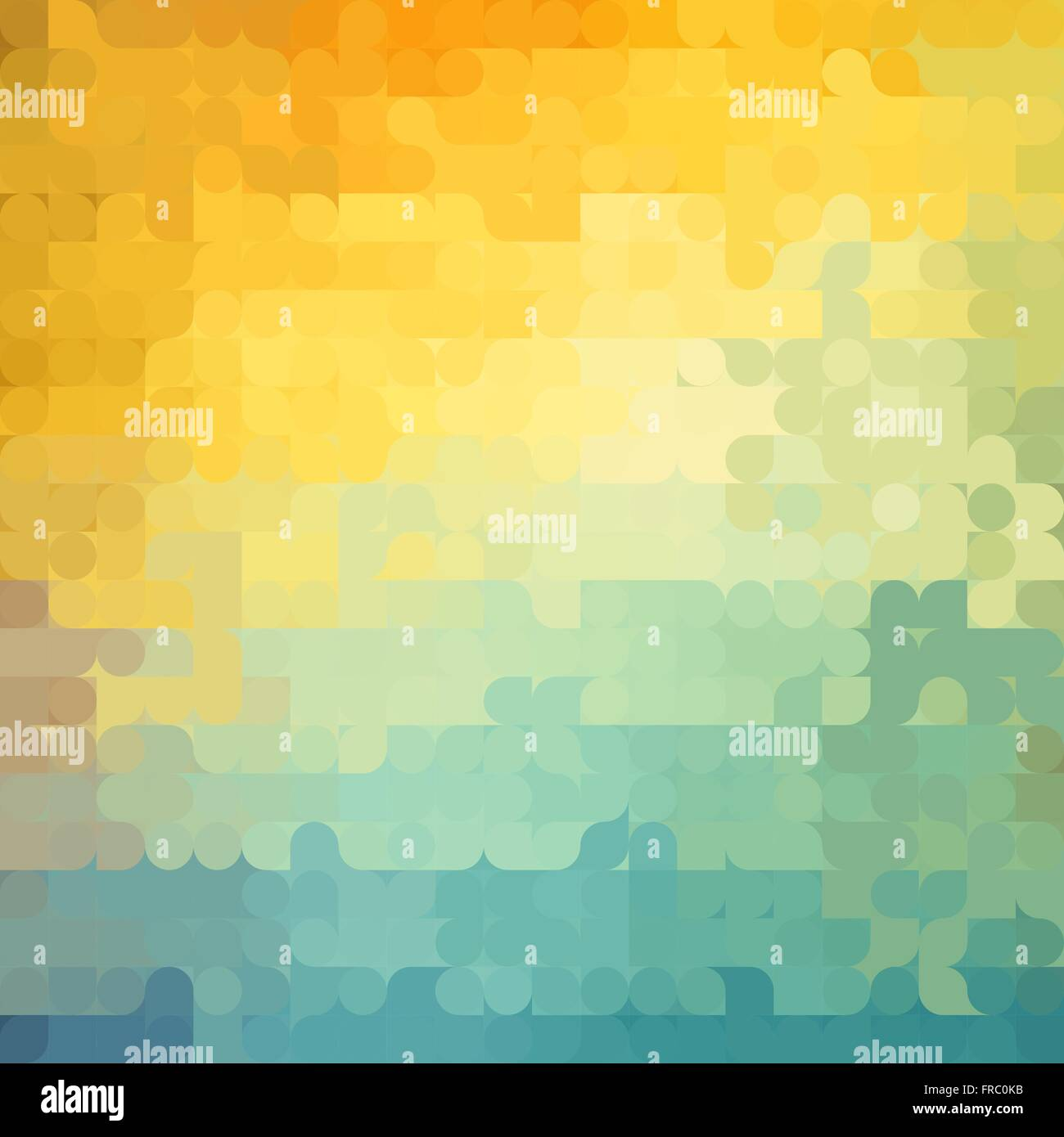 Abstract Geometric Background With Orange Blue And Yellow