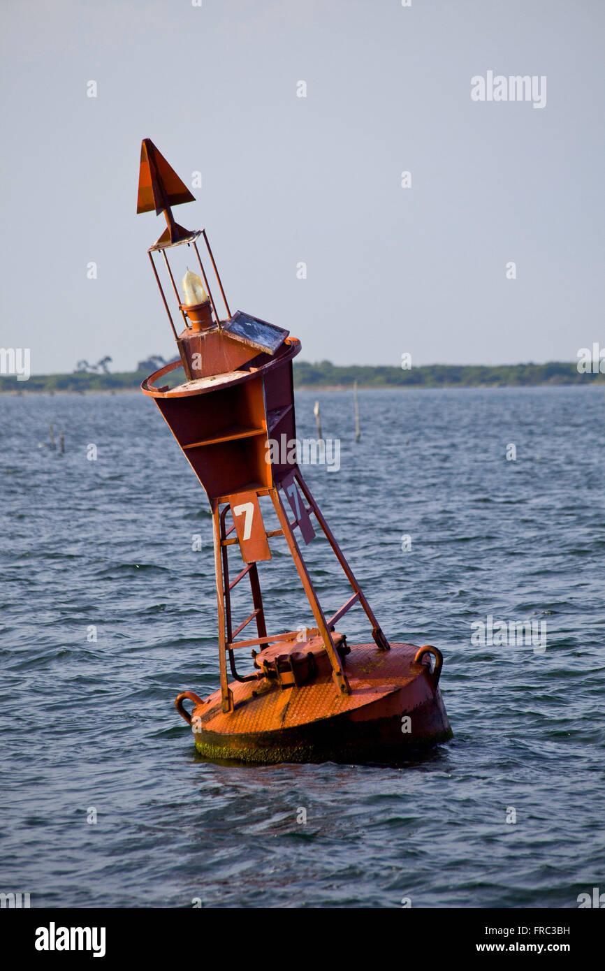Signal Buoy Patos Lagoon - Stock Image