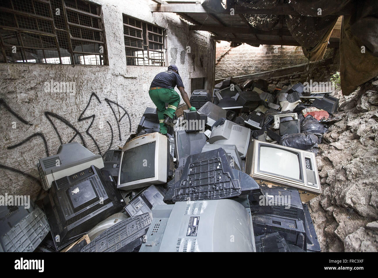 NGO non-governmental organization that is collecting and recycling of electronic waste - Stock Image