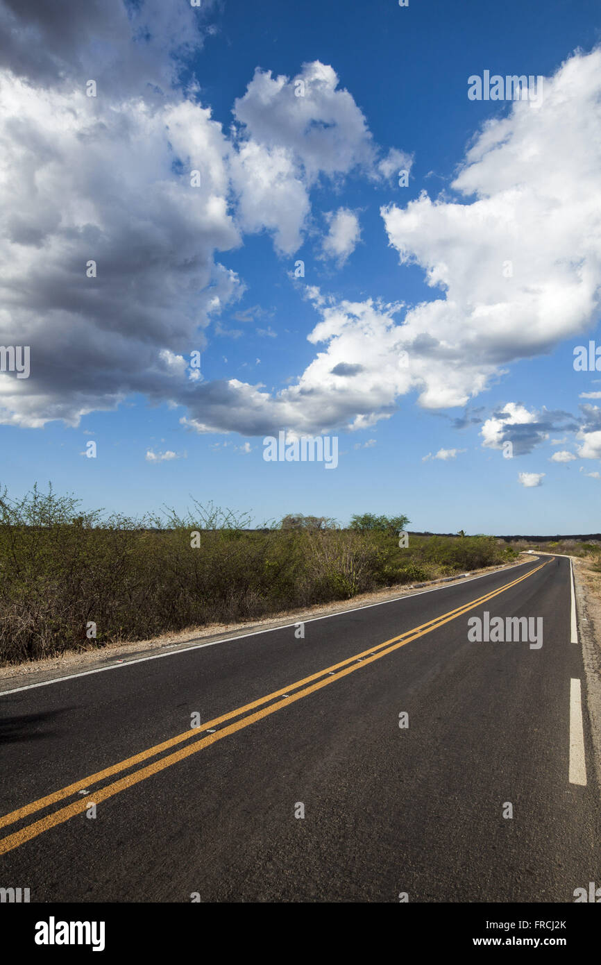 EC-060 highway stretch between the municipality and the district of Daniel de Queiroz - Stock Image