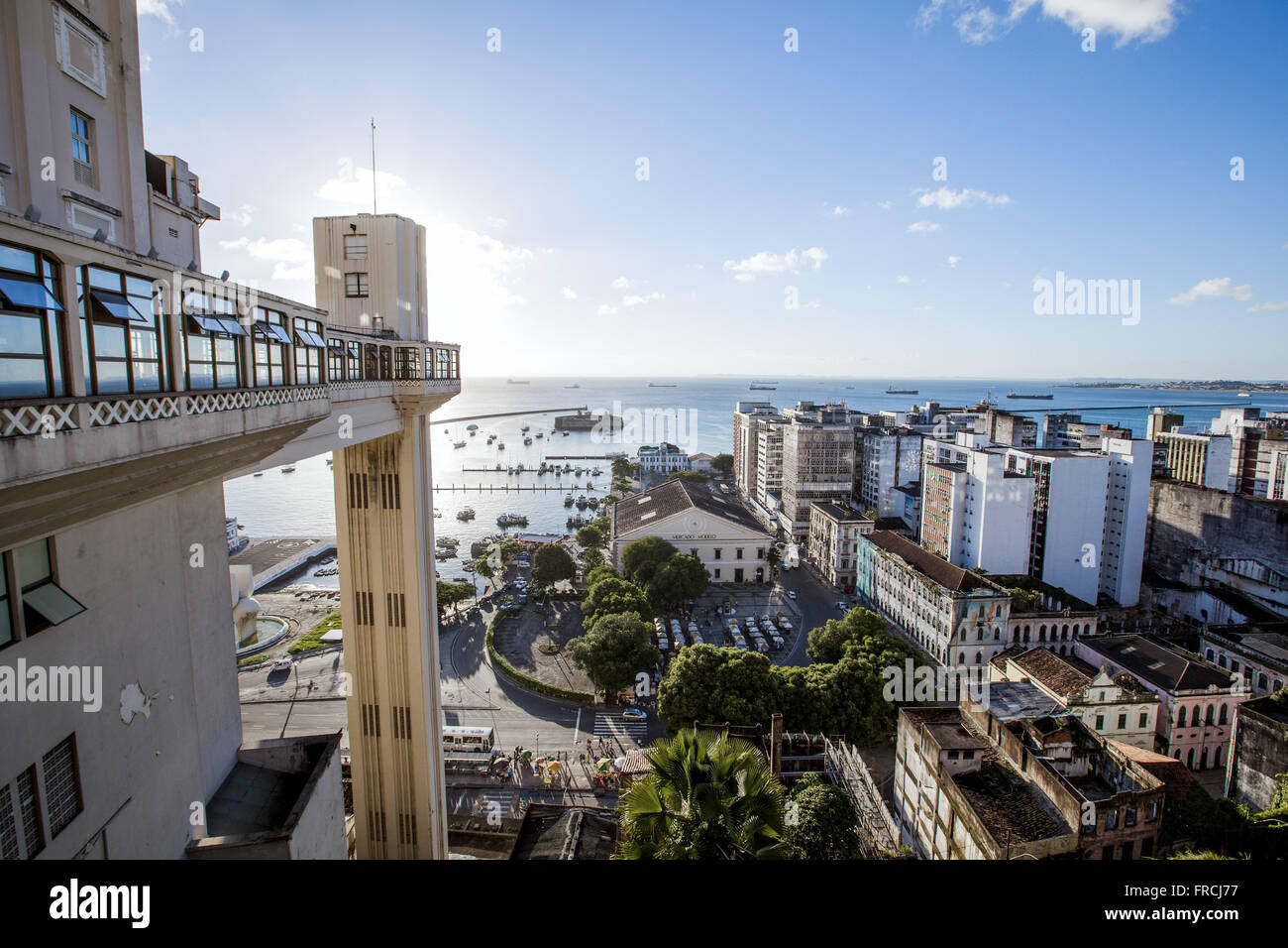 Lacerda Elevator - link between the lower city and the upper city - Stock Image