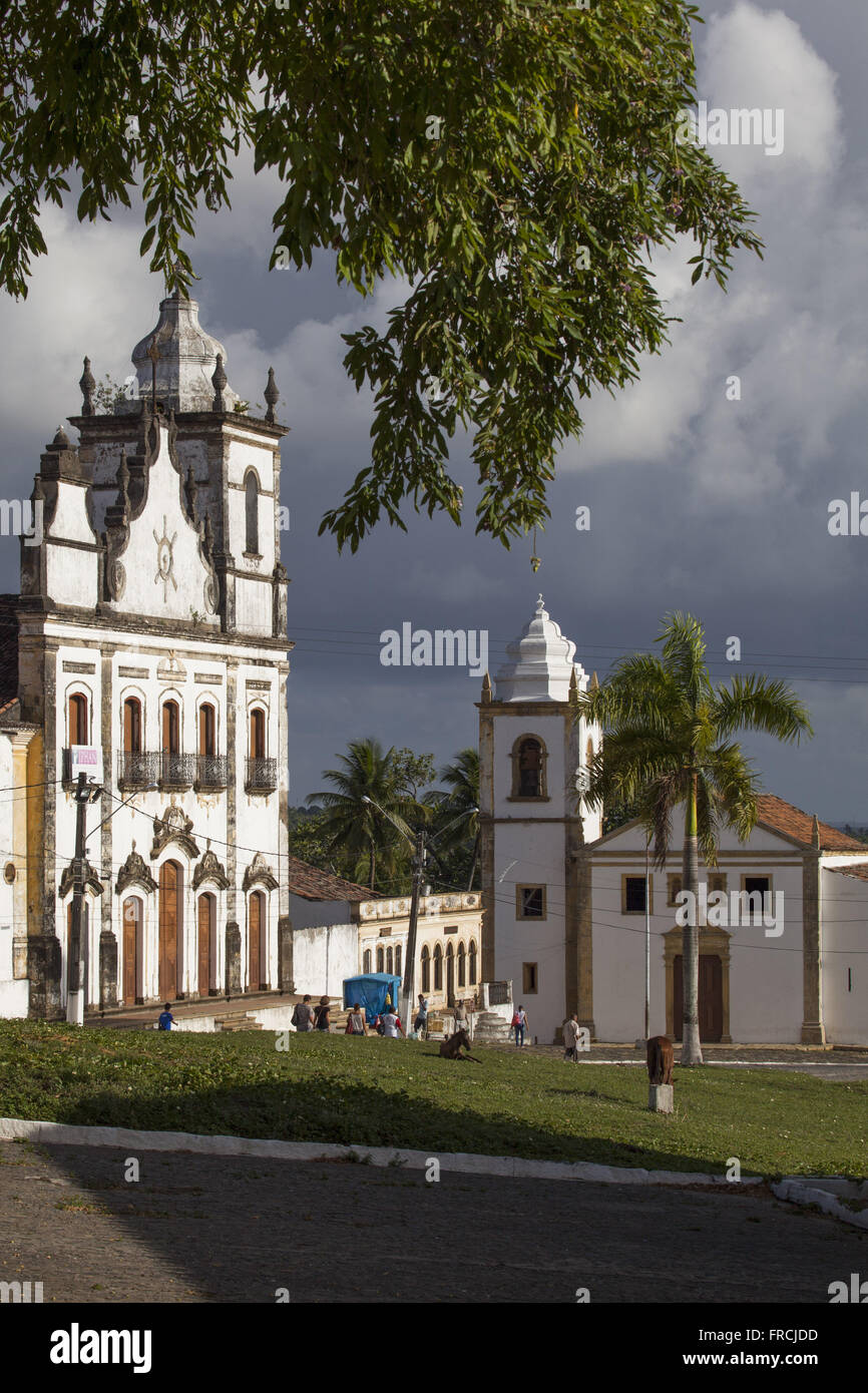 Church of Nossa Senhora da Conceicao 1742 - hosts the Gathering of the Sacred Heart of Jesus - Stock Image