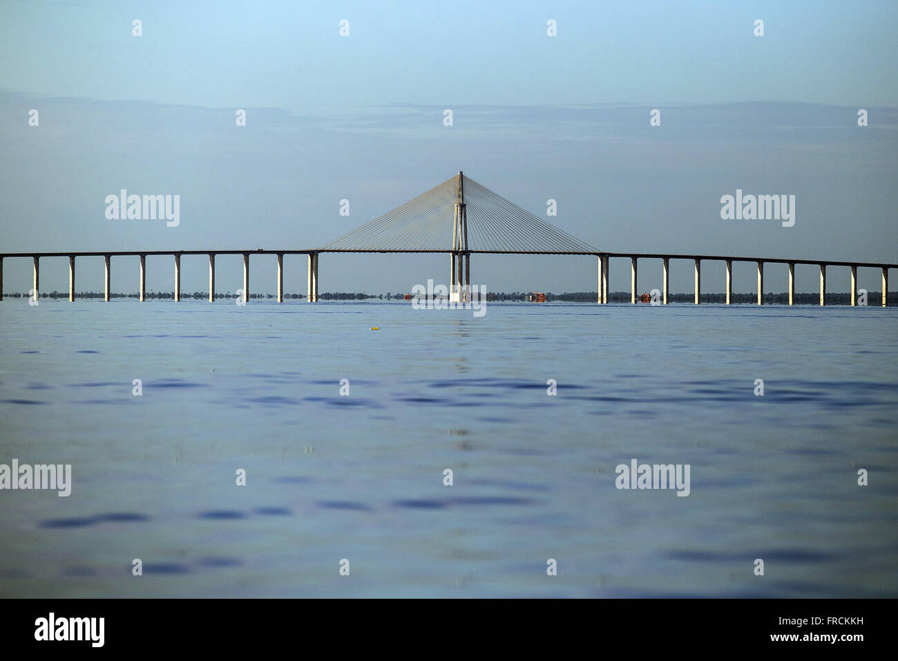 Ponte Rio Negro - ponte estaiada liga Manaus a Iranduba e demais cidades da região metropolitana - Stock Image