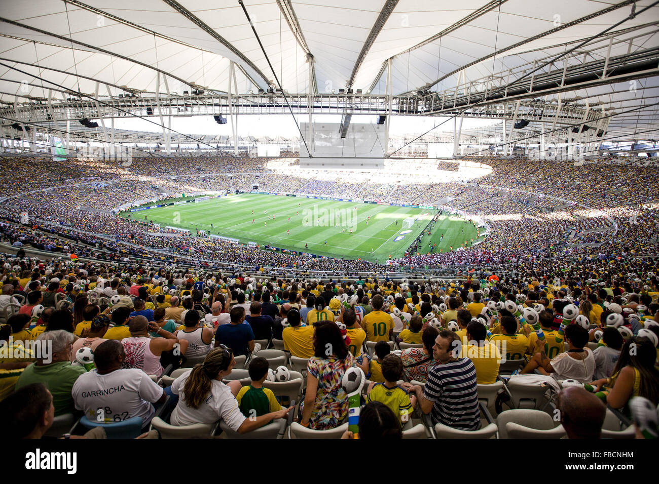 Brazilian fans in the friendly match between Brazil and England - Stock Image