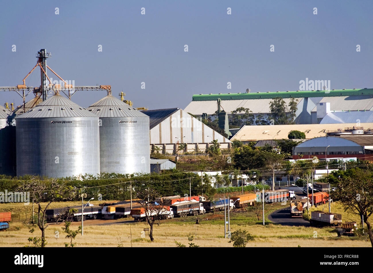 Industries processing grains in Uberlandia in Triangulo Mineiro - Stock Image