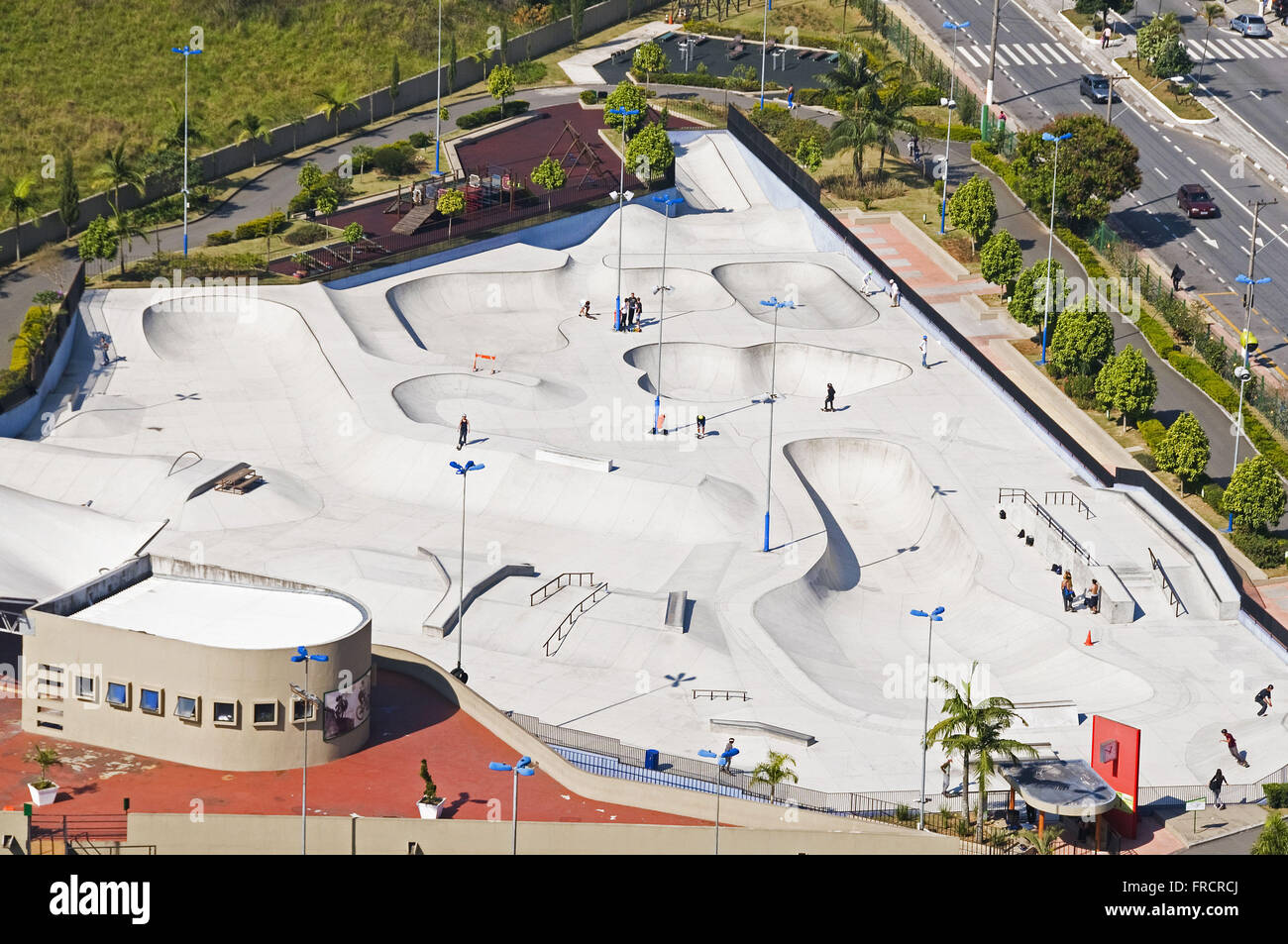 Skate in the Park City School Citta Marostica known as Youth Park - Stock Image