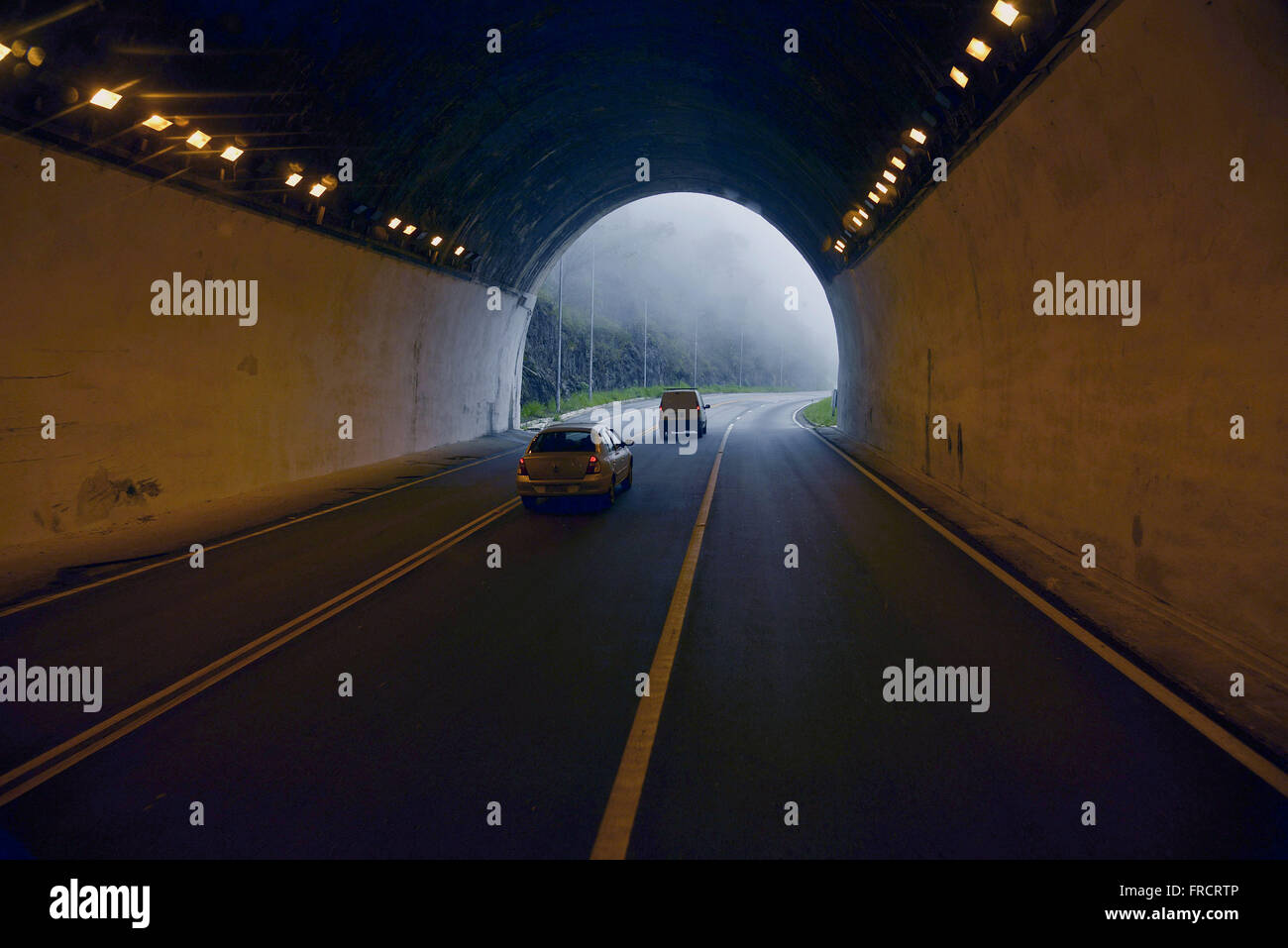 Tunnel SP-123 Highway Floriano Rodrigues Pinheiro - Stock Image