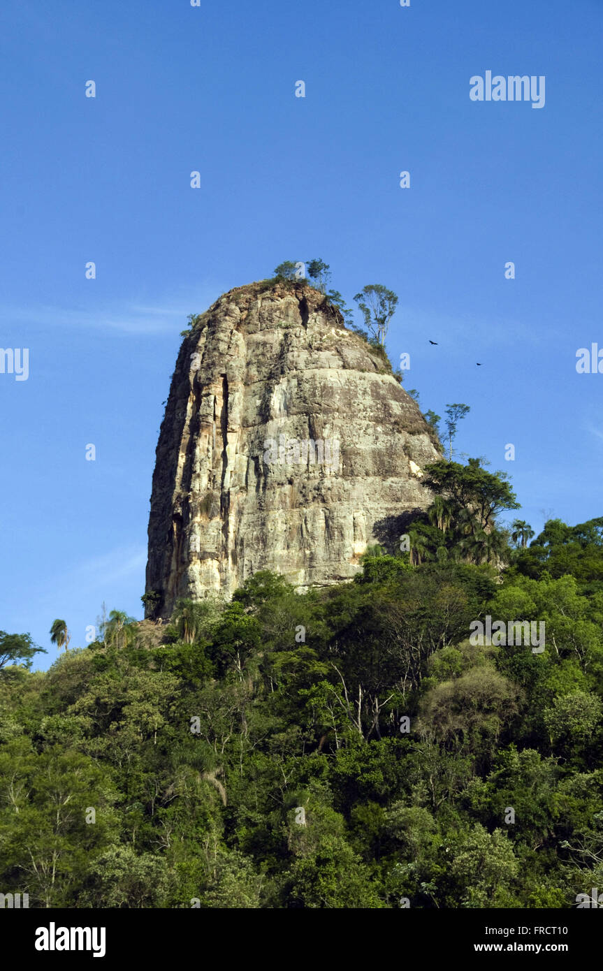 Rock formation in the rural area of the city Stone Tower - inside SP - Stock Image