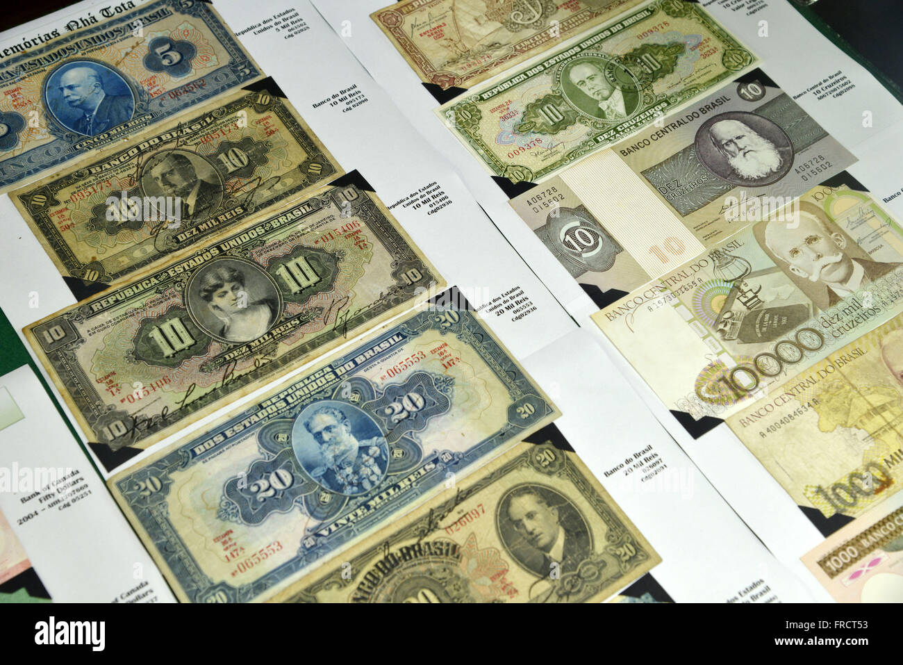 Old exposed ballots in private museum - Stock Image