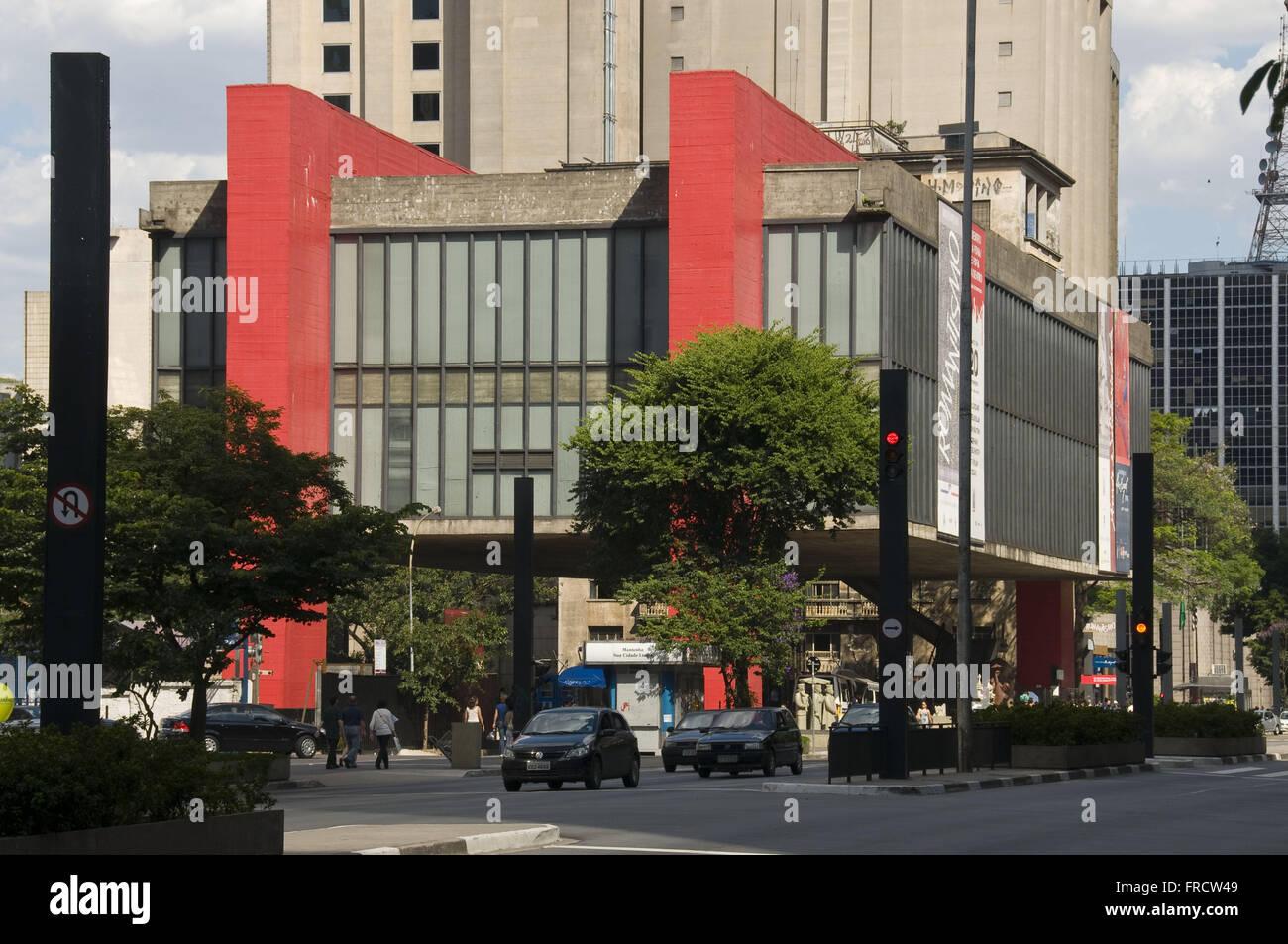 MASP - Museu de Arte de Sao Paulo - Assis Chateaubriand - Stock Image