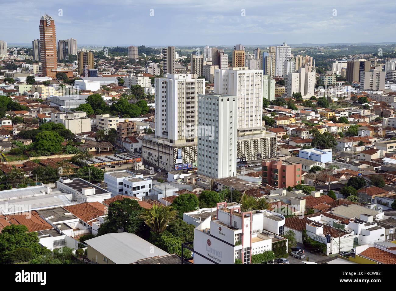 Vista de cima da cidade Stock Photo