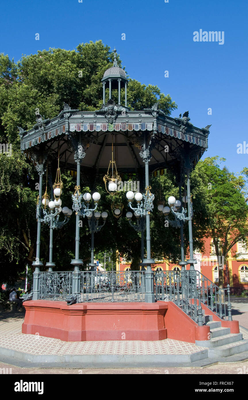 Bandstand in Praca Heliodorus Balbi in Manaus - Stock Image