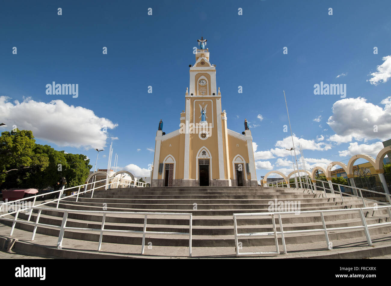 Mother Church and Basilica of Our Lady of Sorrows city of Juazeiro Stock Photo