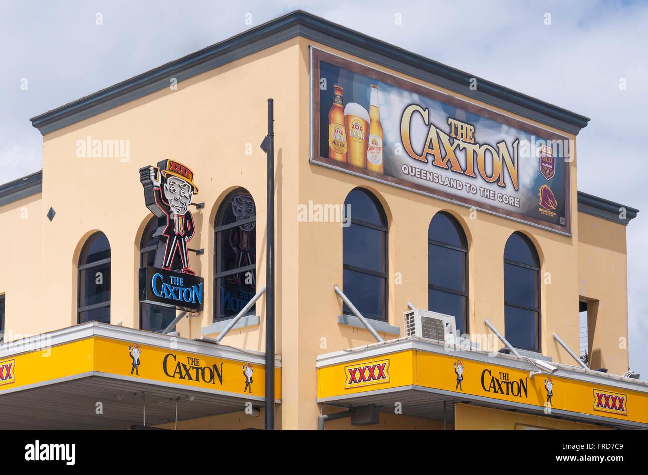 Exterior of the historic Caxton Hotel, Caxton Street, Paddington, Brisbane, Queensland, Australia - Stock Image