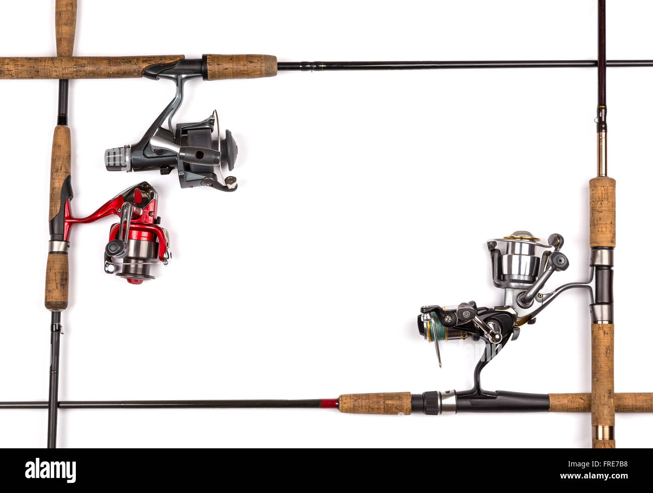 frame from fishing rods and reels. Concept design for freshwater ...