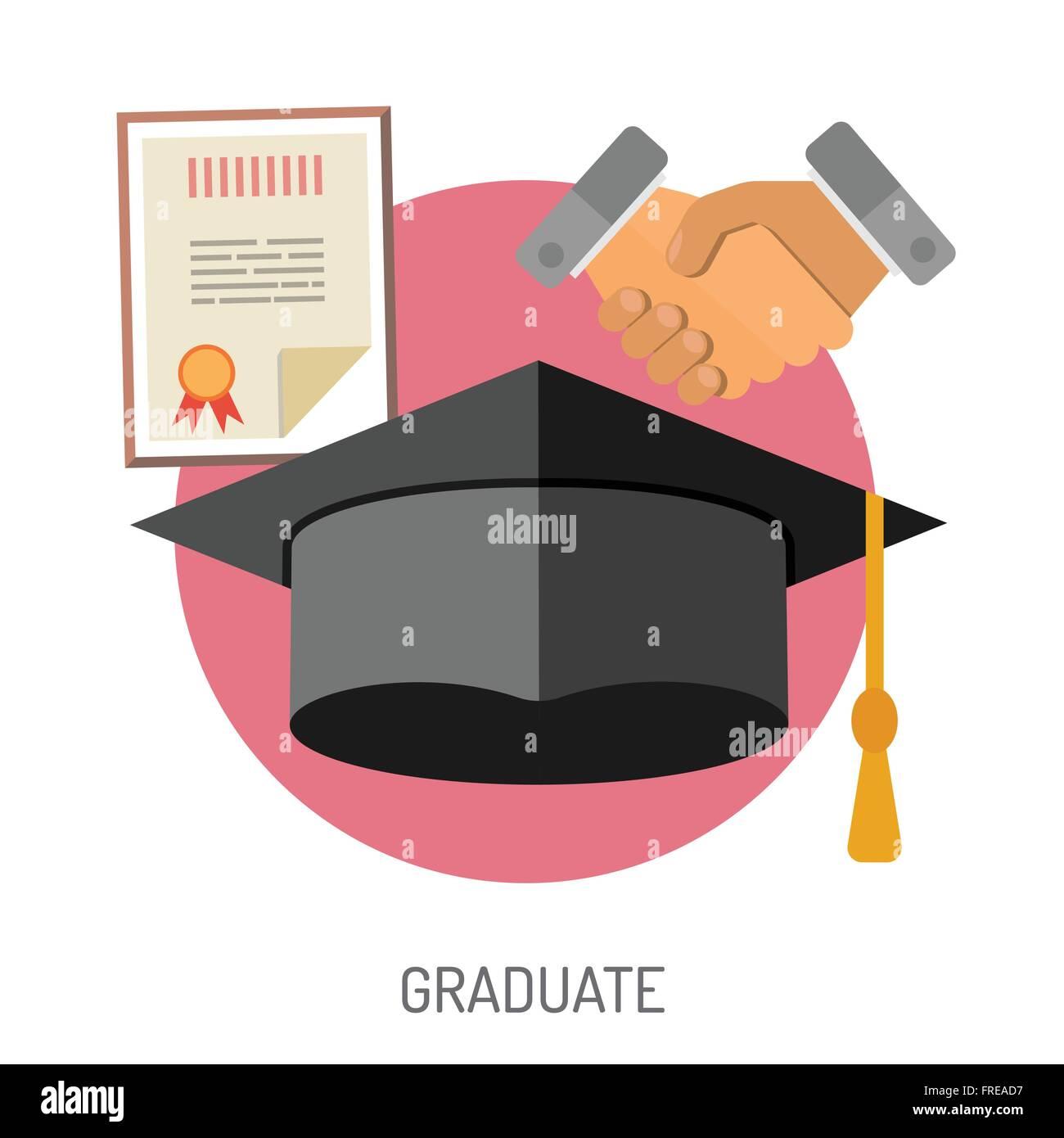Education Flat Icon Set - Stock Image