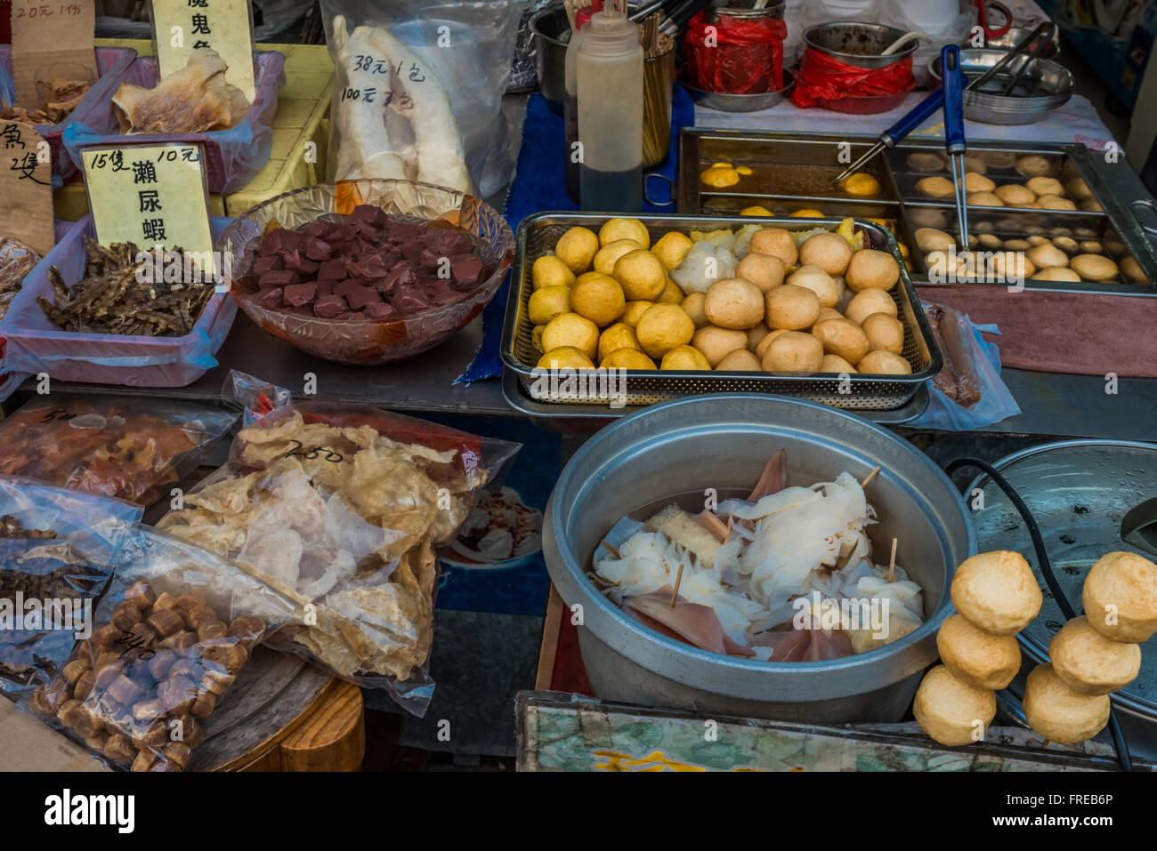 seafood market Tai O Lantau island in Hong Kong - Stock Image