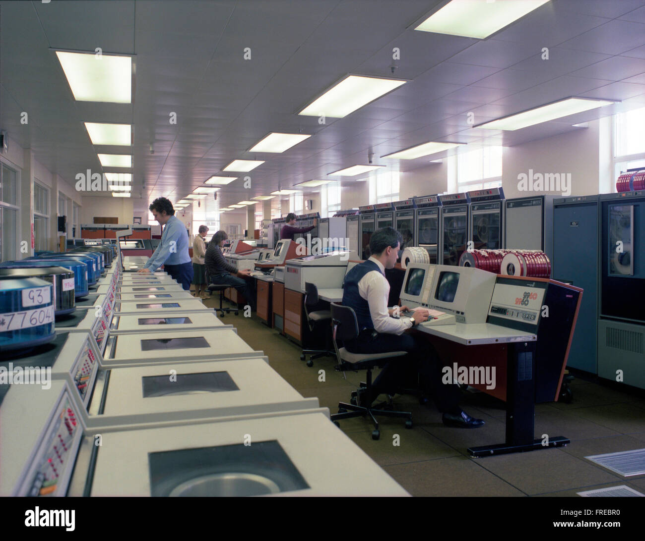ICL 2960 mainframe computer system at the Milk Marketing Board, Thames Ditton c1985 - Stock Image