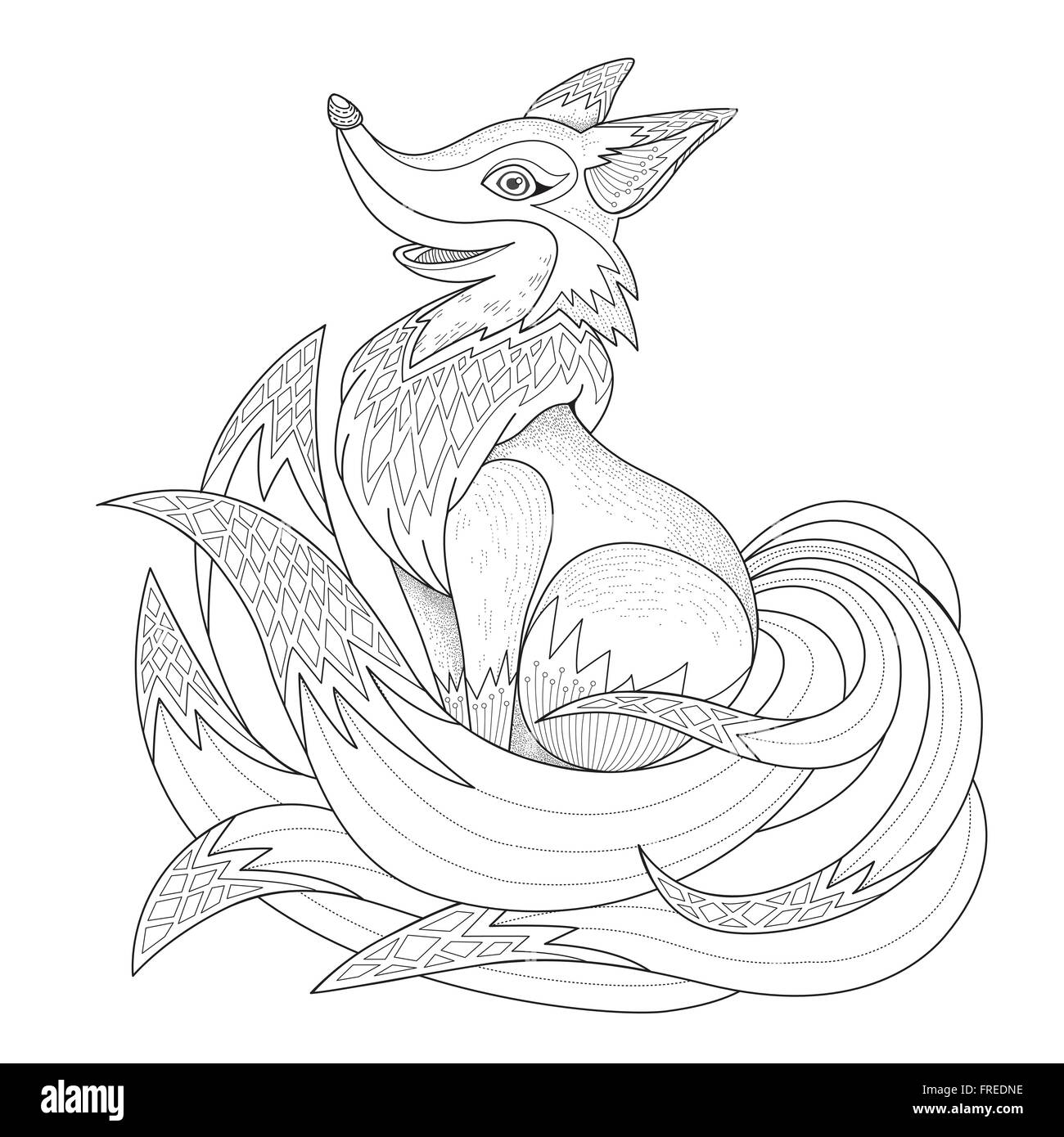 Tails Fox Stock Vector Images - Alamy