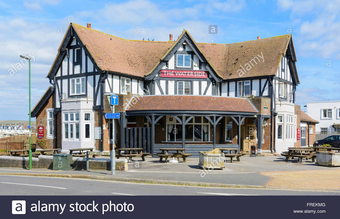The Waterside Inn at Shoreham-by-Sea, West Sussex, England, UK. - Stock Image