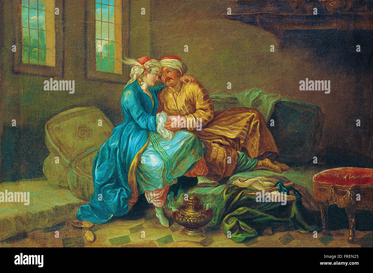 Etienne Jeaurat - The Favourite Sultana - Stock Image