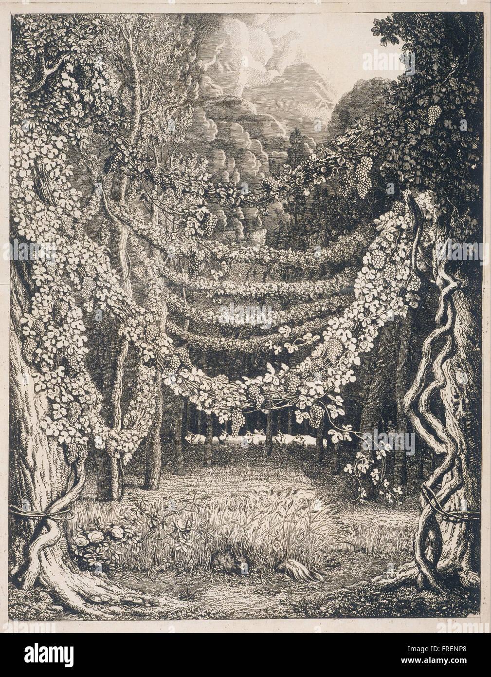 Johann Heinrich Wilhelm Tischbein (called Goethe-Tischbein), German - Imaginary View of a Vineya - Stock Image