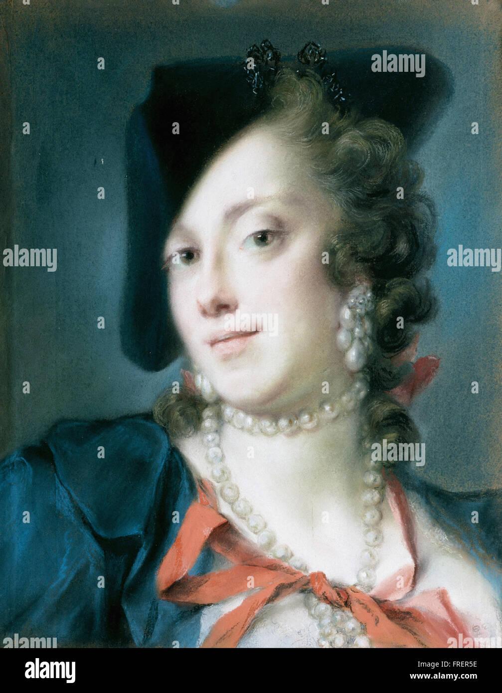 Rosalba Carriera - A Venetian Lady from the House of Barbarigo - Stock Image