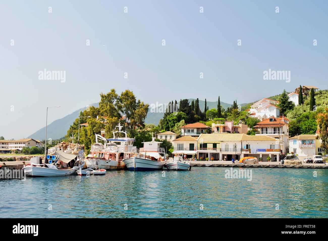 Greece, Ionian Islands, Lefkada, Lygia, harbour - Stock Image