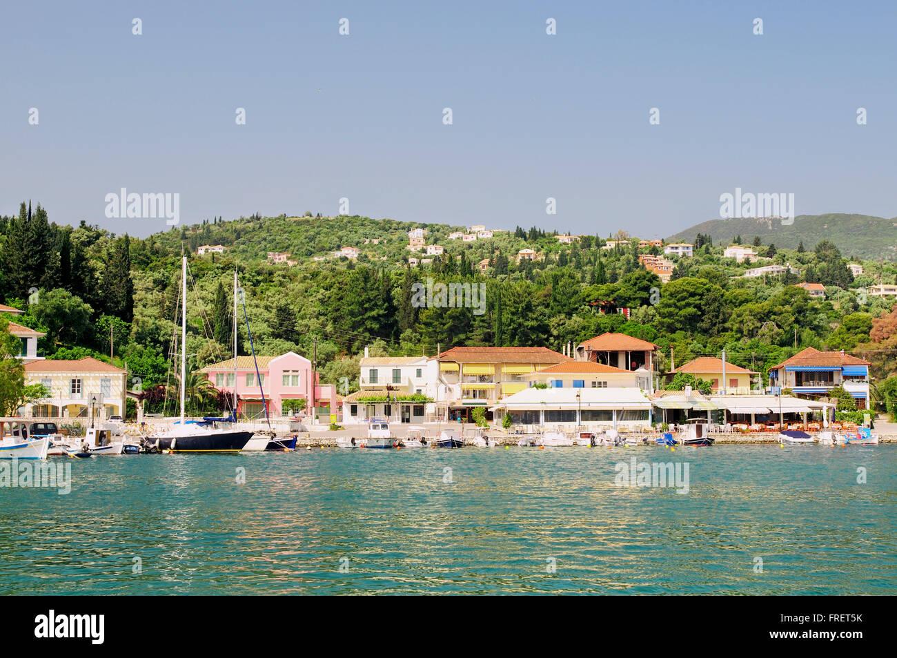 Greece, Ionian Islands, Lefkada, Lygia, waterfront - Stock Image